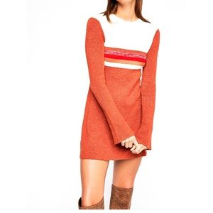 NWT Free People Colorblock Swit Mini Dress